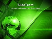 Green World Background Globe PowerPoint Templates And PowerPoint Backg