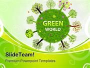 Green World Globe PowerPoint Templates And PowerPoint Backgrounds pgra