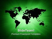 Green World Map Global PowerPoint Templates And PowerPoint Backgrounds