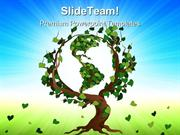Green World Tree Earth PowerPoint Templates And PowerPoint Backgrounds