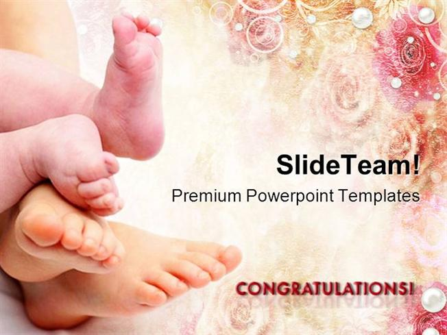 Greetings On New Born Baby Powerpoint Templates And Powerpoint Bac