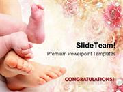 Greetings on New Born Baby PowerPoint Templates And PowerPoint Backgro