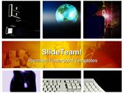 Grid Tech Computer PowerPoint Templates And PowerPoint Backgrounds ppt