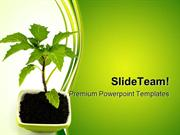 Growing Green Plant Nature PowerPoint Templates And PowerPoint Backgro