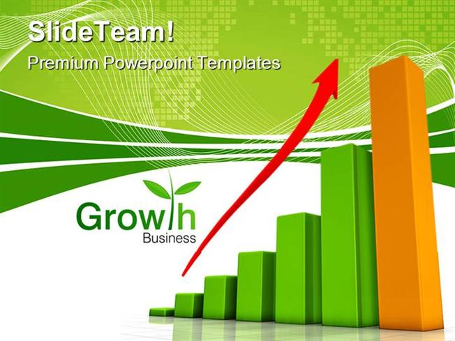 Growth Chart Business Powerpoint Templates And Powerpoint Backgrou