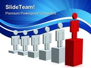 Growth Of Manpower Leadership PowerPoint Templates And PowerPoint Back