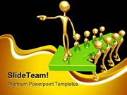 Guiding Arrow Leader Leadership PowerPoint Themes And PowerPoint Slide