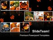 Halloween Collage Festival PowerPoint Templates And PowerPoint Backgro