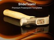 Hammer On Reflection Industrial PowerPoint Templates And PowerPoint Ba