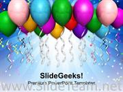 ABSTRACT BALLOONS BACKGROUND FOR PARTY POWERPOINT TEMPLATE