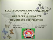 ELECTROOCULOGRAPHIC GUIDANCE OF A WHEEL CHAIR USING EYE MOVEMENT CODIF