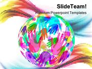 Hands Background Globe PowerPoint Templates And PowerPoint Backgrounds