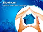 Hands Made House Family PowerPoint Templates And PowerPoint Background