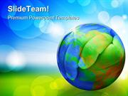 Hands Of The Planet Earth PowerPoint Templates And PowerPoint Backgrou