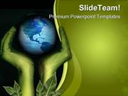 Hands And Earth Geographical PowerPoint Themes And PowerPoint Slides p