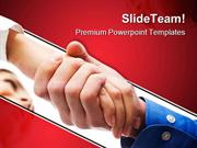 Handshake After Contract Business PowerPoint Templates And PowerPoint