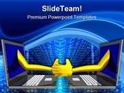 Handshake Computer PowerPoint Templates And PowerPoint Backgrounds ppt