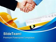 Handshake Construction PowerPoint Templates And PowerPoint Backgrounds