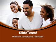 Happy African American Family People PowerPoint Templates And PowerPoi