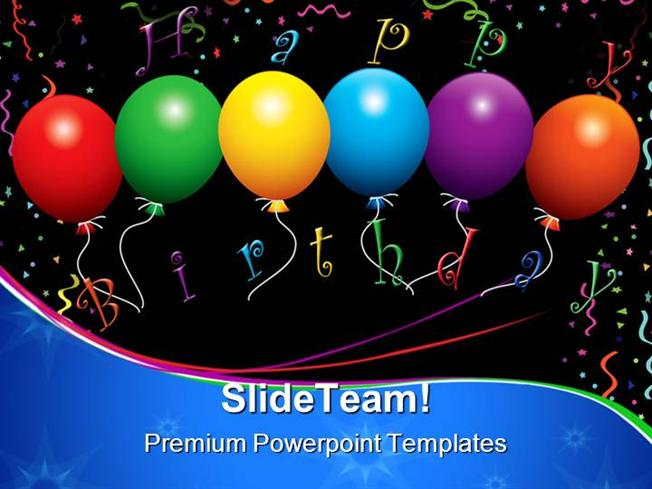 Happy Birthday Balloons Events Powerpoint Templates And Powerpoint