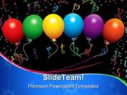 Happy Birthday Balloons Events PowerPoint Templates And PowerPoint Bac