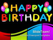 Happy Birthday Balloons Events PowerPoint Themes And PowerPoint Slides