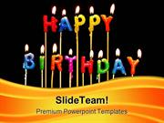 Happy Birthday Candles Events PowerPoint Templates And PowerPoint Back