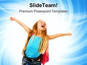 Happy Girl Education PowerPoint Templates And PowerPoint Backgrounds p