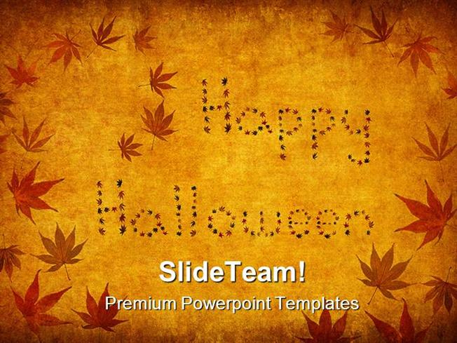 happy halloween festival powerpoint themes and powerpoint slides p