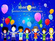 Happy Kids Entertainment PowerPoint Templates And PowerPoint Backgroun