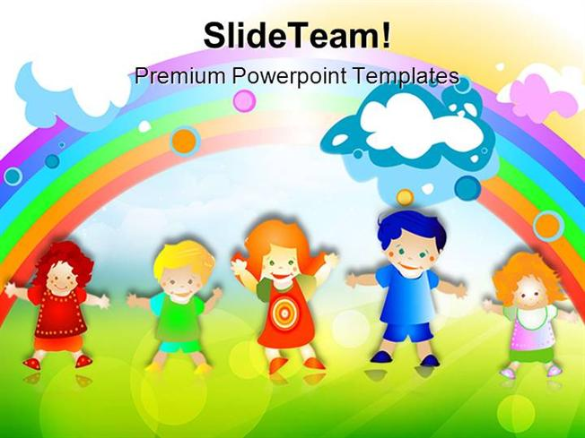 happy kids children powerpoint templates and powerpoint background authorstream