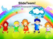Happy Kids Children PowerPoint Templates And PowerPoint Backgrounds pp