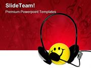Happy Listener Music PowerPoint Templates And PowerPoint Backgrounds p