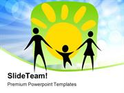 Happy Parents And Child Family PowerPoint Templates And PowerPoint Bac