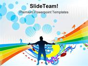 Happy People Background PowerPoint Templates And PowerPoint Background