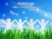 Happy People Team Business PowerPoint Templates And PowerPoint Backgro