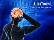 Headache Migraine Medical PowerPoint Templates And PowerPoint Backgrou