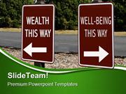 Health And WellBeing Signpost Metaphor PowerPoint Templates And PowerP