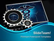 Health With Gears Medical PowerPoint Templates And PowerPoint Backgrou