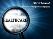 Healthcare With Magnifier Health PowerPoint Templates And PowerPoint B