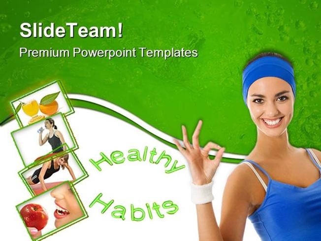 Healthy Habits People Powerpoint Templates And Powerpoint