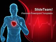 Healthy Heart Concept Medical PowerPoint Templates And PowerPoint Back