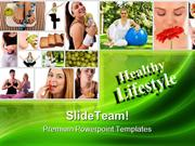 Healthy Lifestyle Fitness Health PowerPoint Templates And PowerPoint B