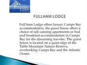 Bed and Breakfast Accommodation Camps Bay