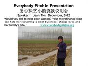 Everybody Pitch In- Micro-finance loans in Asia- Dec 2012
