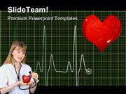 Heart Beat Medical PowerPoint Templates And PowerPoint Backgrounds ppt