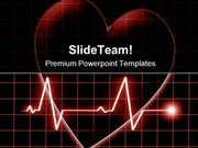 Heart Beat On Monitor Health PowerPoint Templates And PowerPoint Backg