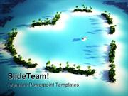 Heart Shaped Island Beauty PowerPoint Templates And PowerPoint Backgro