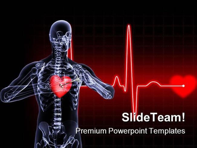 Heart Xray Medical Powerpoint Templates And Powerpoint Backgrounds