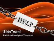 Help Chain Metaphor PowerPoint Templates And PowerPoint Backgrounds pp